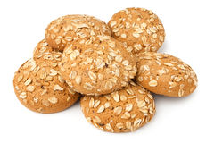 Oat cookies heap royalty free stock images