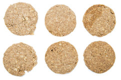 Oat Cookies isolated on white Stock Photo