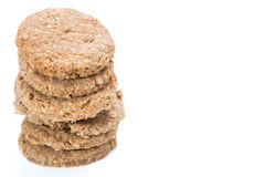Oat Cookies isolated on white Royalty Free Stock Image