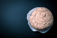 Oat cookies on the old shabby background. tinted. with space for Royalty Free Stock Photo