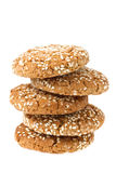 Oat cookies with sesame Royalty Free Stock Photo