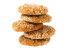 Oat cookies isolated Royalty Free Stock Photos