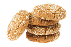 Oat cookies with sesame Stock Photos
