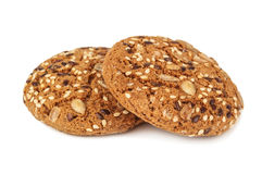 Oat cookies with sesame Royalty Free Stock Images