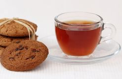Oat cookies and tea Royalty Free Stock Image