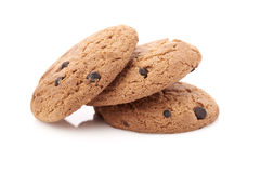 Oat cookies on white Stock Photo