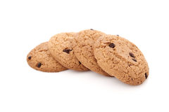 Oat cookies on white Stock Images