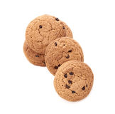 Oat cookies on white Stock Image