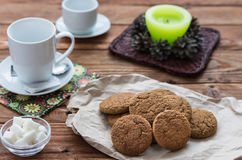 The oat cookies royalty free stock images
