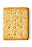 Oat Cracker. Isolated on white royalty free stock photos