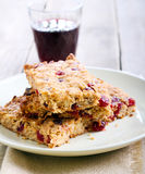 Oat and cranberry bars Stock Photos