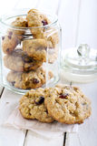 Oat, cranberry wholemeal cookies Royalty Free Stock Images