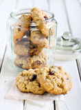 Oat, cranberry wholemeal cookies Stock Photography