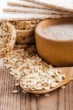 Oat dietary products Stock Images