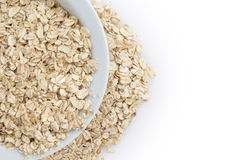 Oat flackes in bowl Royalty Free Stock Image
