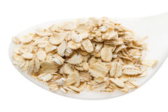Oat Flake in spoon Stock Image