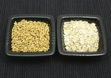 Oat and flakes Royalty Free Stock Photo