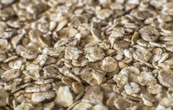 Oat flakes background - macro photo Royalty Free Stock Image
