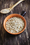 Oat flakes in a bowl Stock Photography