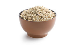 Oat flakes in bowl Stock Image