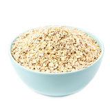 Oat flakes for Breakfast isolated  on white background. Healthy Royalty Free Stock Photos