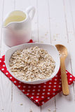 Oat flakes for breakfast Stock Images