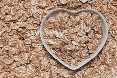Oat flakes cereal Stock Images
