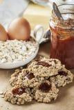 Oat flakes cookies Stock Image