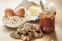 Oat flakes cookies Royalty Free Stock Photos