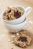 Oat flakes cookies Royalty Free Stock Images