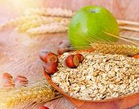 Oat flakes - healthy meal Royalty Free Stock Photos
