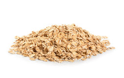 Oat flakes isolated on white background. Royalty Free Stock Photography