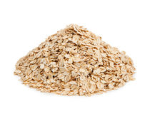 Oat flakes isolated on white background. Healthy eating Royalty Free Stock Photo