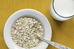 Oat-flakes with milk Royalty Free Stock Image