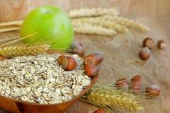 Oat flakes - oatmeal Royalty Free Stock Photo