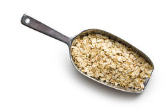 Oat flakes on scoop Royalty Free Stock Photography