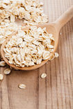 Oat flakes in spoon Stock Photography