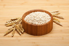 Oat flakes and wheat Royalty Free Stock Photos