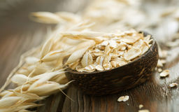Oat Flekes. Healthy Eating concept-Oat Flakes.Selective focus Royalty Free Stock Image