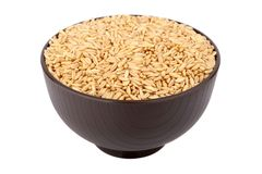 Oat grain. Isolated over white background Royalty Free Stock Image