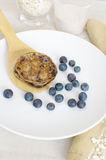 Oat healthy breakfast pancakes Royalty Free Stock Photography