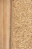 Oat, mat and rope for the menu Royalty Free Stock Photos