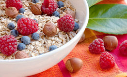 Oat nuts breackfast Royalty Free Stock Photos
