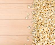 Oat. Meal background closeup heap grain vegetarian Royalty Free Stock Image