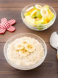 Oat porridge and fruits Stock Photography