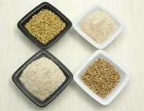 Oat, porridge and meal Stock Photos