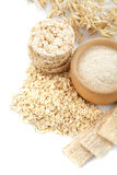 Oat products Stock Photography