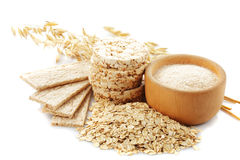 Oat products Stock Photo