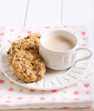 Oat, raisin and chocolate chip cookies Royalty Free Stock Photo