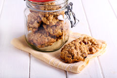 Oat and raisin cookies Royalty Free Stock Photography